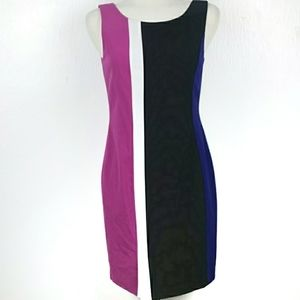 Marc New York Color Block Sleeveless Sheath Dress